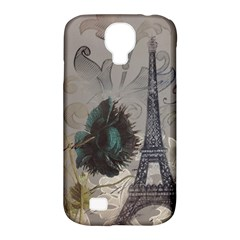 Floral Vintage Paris Eiffel Tower Art Samsung Galaxy S4 Classic Hardshell Case (PC+Silicone)