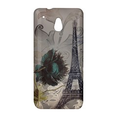Floral Vintage Paris Eiffel Tower Art HTC 601e (One Mini) M4 Hardshell Case