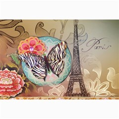 Fuschia Flowers Butterfly Eiffel Tower Vintage Paris Fashion Canvas 20  X 30  (unframed)