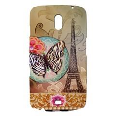 Fuschia Flowers Butterfly Eiffel Tower Vintage Paris Fashion Samsung Galaxy Nexus i9250 Hardshell Case