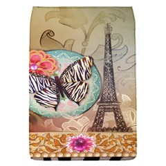 Fuschia Flowers Butterfly Eiffel Tower Vintage Paris Fashion Removable Flap Cover (small)