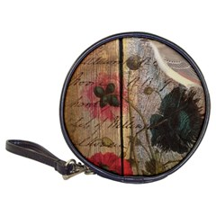 Vintage Bird Poppy Flower Botanical Art Cd Wallet