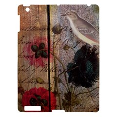 Vintage Bird Poppy Flower Botanical Art Apple Ipad 3/4 Hardshell Case