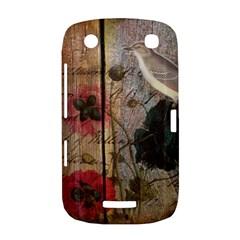Vintage Bird Poppy Flower Botanical Art BlackBerry Curve 9380 Hardshell Case