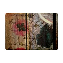Vintage Bird Poppy Flower Botanical Art Apple Ipad Mini Flip Case