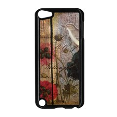 Vintage Bird Poppy Flower Botanical Art Apple iPod Touch 5 Case (Black)