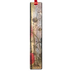 Vintage Bird Poppy Flower Botanical Art Large Bookmark