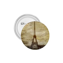 Elegant Vintage Paris Eiffel Tower Art 1.75  Button