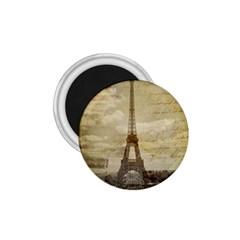 Elegant Vintage Paris Eiffel Tower Art 1 75  Button Magnet