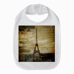 Elegant Vintage Paris Eiffel Tower Art Bib