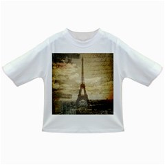 Elegant Vintage Paris Eiffel Tower Art Baby T-shirt