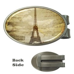 Elegant Vintage Paris Eiffel Tower Art Money Clip (oval)