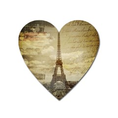 Elegant Vintage Paris Eiffel Tower Art Magnet (Heart)