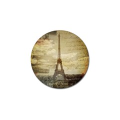 Elegant Vintage Paris Eiffel Tower Art Golf Ball Marker