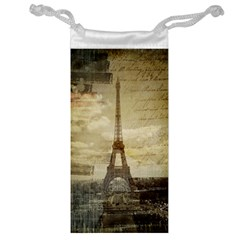 Elegant Vintage Paris Eiffel Tower Art Jewelry Bag