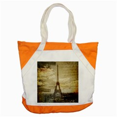 Elegant Vintage Paris Eiffel Tower Art Accent Tote Bag