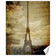 Elegant Vintage Paris Eiffel Tower Art Canvas 16  x 20  (Unframed)