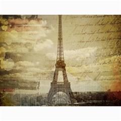 Elegant Vintage Paris Eiffel Tower Art Canvas 18  x 24  (Unframed)