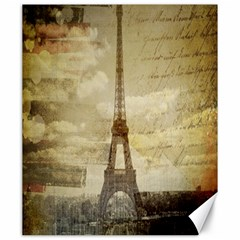 Elegant Vintage Paris Eiffel Tower Art Canvas 20  x 24  (Unframed)