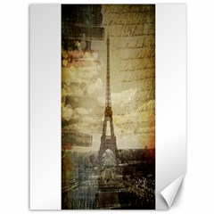 Elegant Vintage Paris Eiffel Tower Art Canvas 36  X 48  (unframed)
