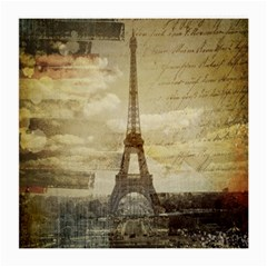 Elegant Vintage Paris Eiffel Tower Art Glasses Cloth (Medium)