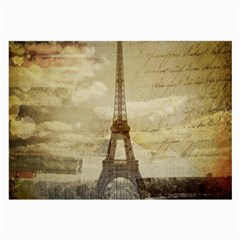 Elegant Vintage Paris Eiffel Tower Art Glasses Cloth (large, Two Sided)