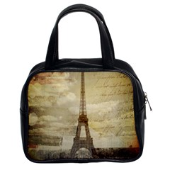 Elegant Vintage Paris Eiffel Tower Art Classic Handbag (Two Sides)