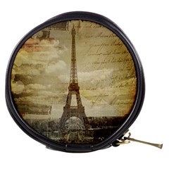 Elegant Vintage Paris Eiffel Tower Art Mini Makeup Case