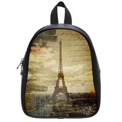 Elegant Vintage Paris Eiffel Tower Art School Bag (Small)