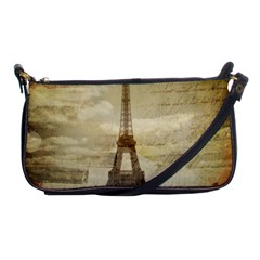 Elegant Vintage Paris Eiffel Tower Art Evening Bag