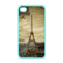 Elegant Vintage Paris Eiffel Tower Art Apple iPhone 4 Case (Color)