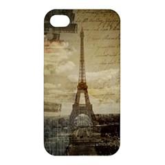 Elegant Vintage Paris Eiffel Tower Art Apple iPhone 4/4S Premium Hardshell Case