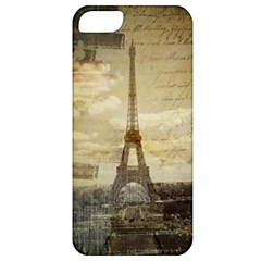 Elegant Vintage Paris Eiffel Tower Art Apple Iphone 5 Classic Hardshell Case