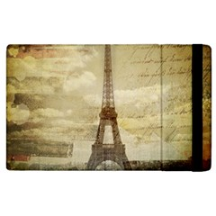 Elegant Vintage Paris Eiffel Tower Art Apple iPad 3/4 Flip Case