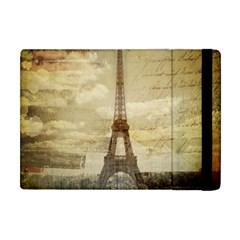 Elegant Vintage Paris Eiffel Tower Art Apple iPad Mini Flip Case