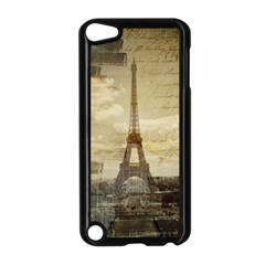 Elegant Vintage Paris Eiffel Tower Art Apple Ipod Touch 5 Case (black)