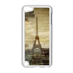 Elegant Vintage Paris Eiffel Tower Art Apple iPod Touch 5 Case (White)