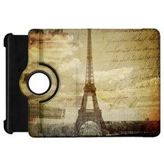 Elegant Vintage Paris Eiffel Tower Art Kindle Fire HD 7  Flip 360 Case