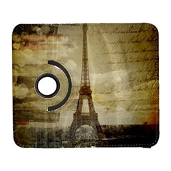Elegant Vintage Paris Eiffel Tower Art Samsung Galaxy S  III Flip 360 Case