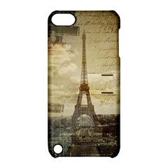 Elegant Vintage Paris Eiffel Tower Art Apple iPod Touch 5 Hardshell Case with Stand