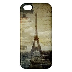 Elegant Vintage Paris Eiffel Tower Art Iphone 5 Premium Hardshell Case
