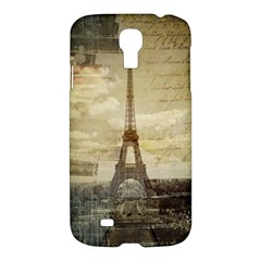 Elegant Vintage Paris Eiffel Tower Art Samsung Galaxy S4 I9500/I9505 Hardshell Case