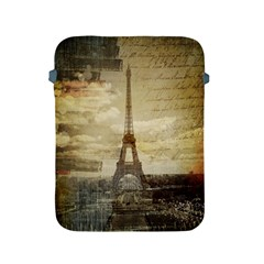 Elegant Vintage Paris Eiffel Tower Art Apple Ipad 2/3/4 Protective Soft Case