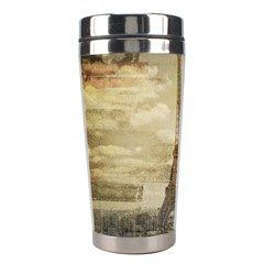 Elegant Vintage Paris Eiffel Tower Art Stainless Steel Travel Tumbler