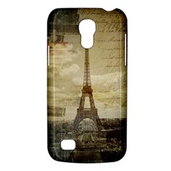 Elegant Vintage Paris Eiffel Tower Art Samsung Galaxy S4 Mini Hardshell Case