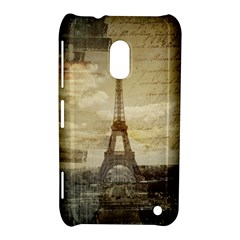 Elegant Vintage Paris Eiffel Tower Art Nokia Lumia 620 Hardshell Case