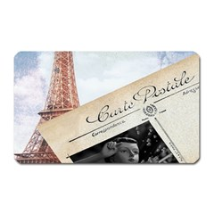 French Postcard Vintage Paris Eiffel Tower Magnet (rectangular)
