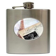 French Postcard Vintage Paris Eiffel Tower Hip Flask