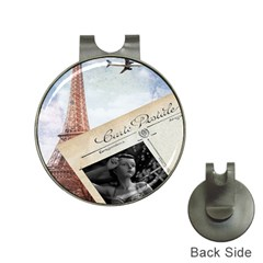 French Postcard Vintage Paris Eiffel Tower Hat Clip with Golf Ball Marker