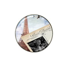 French Postcard Vintage Paris Eiffel Tower Golf Ball Marker 4 Pack (for Hat Clip)